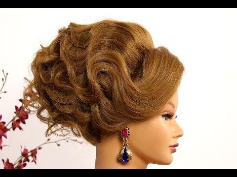 Arabic bridal  updo. Hairstyle for long  medium hair