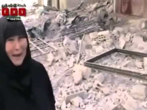 Syrian old woman tells how FSA killed her sons and daughter.