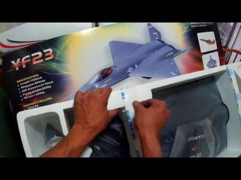 LX Models  YF-23 Twin 70mm EDF  Stealth Fighter Jet, ( Un-Boxing & Presentation )