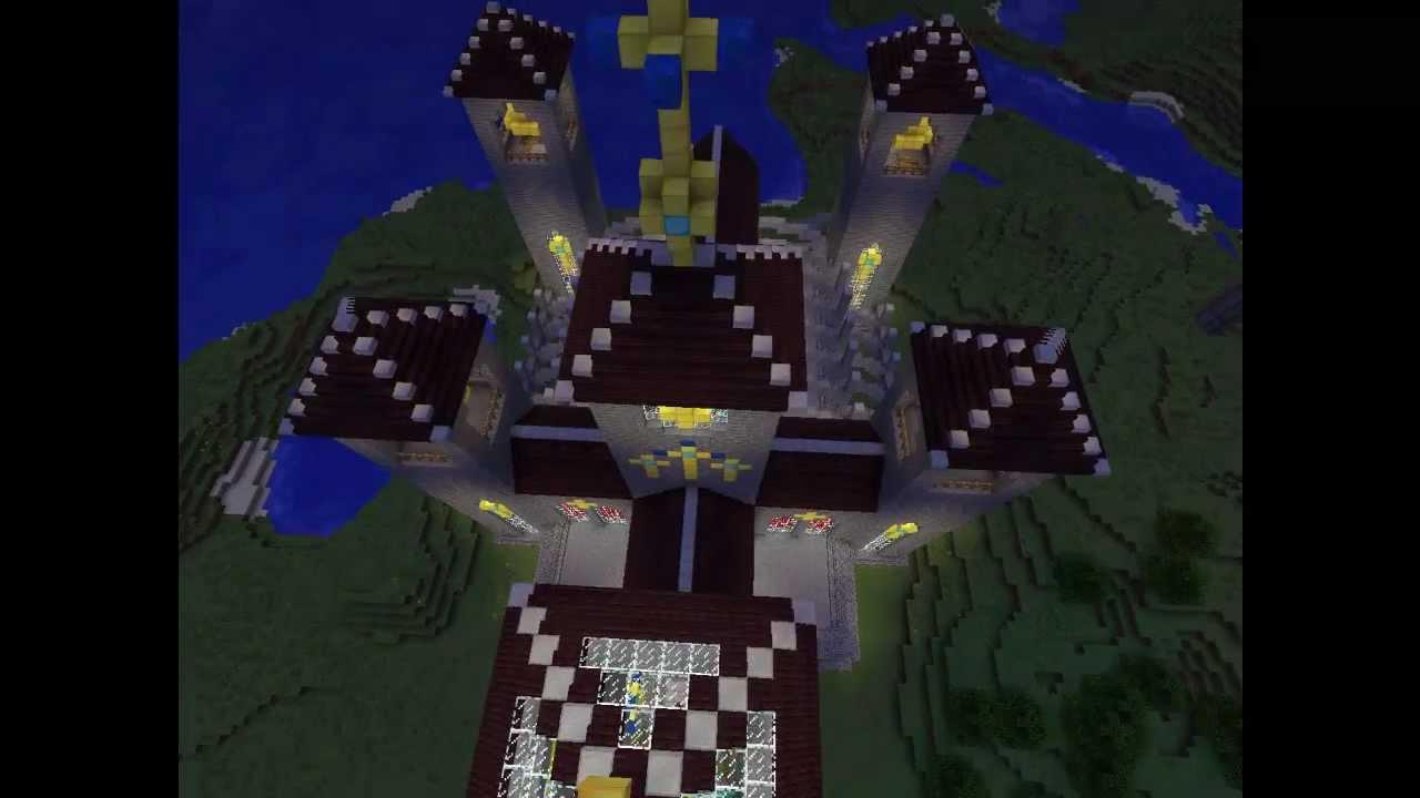minecraft ideen zum bauen 4 kathedrale und berghaus youtube. Black Bedroom Furniture Sets. Home Design Ideas