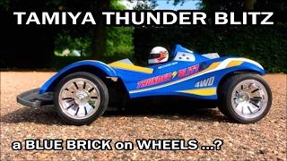 Tamiya Thunder Blitz: A Blue Brick on Wheels? First Run of the Tamiya RC Boy's 4WD Racer #57604