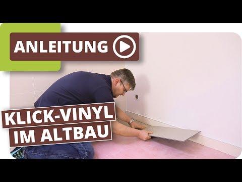 Verlegen von Vinyl Boden Bodenbelag für dein Badezimmer Bad-
