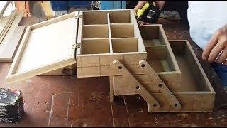 Caja múltiple en madera