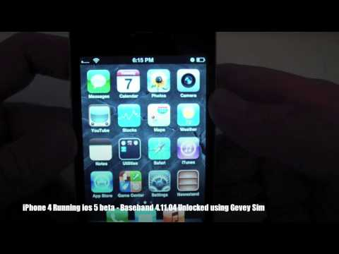 How To Unlock iPhone 4 + ios 5 beta UNLOCKED using Gevey Sim