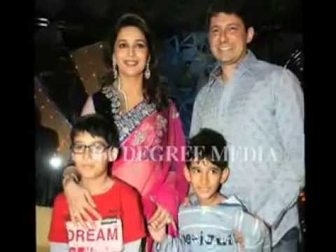 Madhuri Dixit's Family - Dr Sriram Nene And Sons Arin And Ryan At Jhalak Dikhla Jaa Sets video