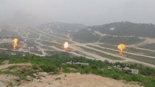 米韓、最大規模の実弾訓練