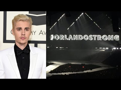 Justin Bieber Pays Beautiful Tribute To Orlando Victims & Christina Grimmie During Concert