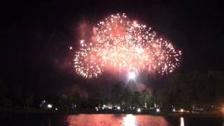 Firework Displays at The General Prem Historical Park, Songkhla