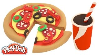 Modelling Clay How to Make a Pizza Creative Fun for Kids with Play-Doh RainbowLearning