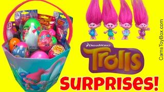 Dreamworks Trolls Surprise Plastic Easter Eggs Chocolate Blind Bags Series 3 4 2 Chupa Chups Lollipo