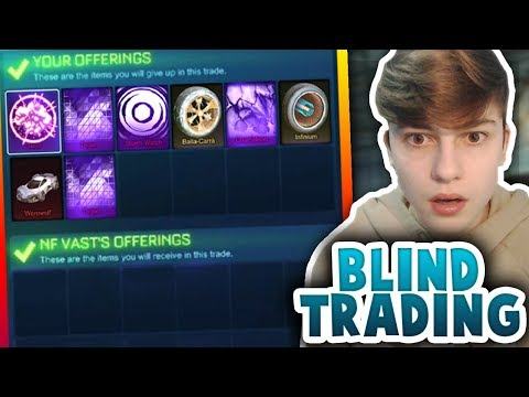BLIND TRADING WITH VICTORY ITEMS | *I LOST A MYSTERY* | Rocket League