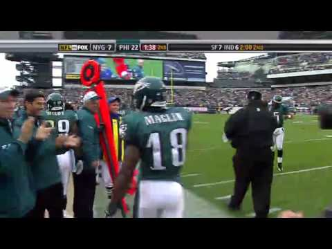 NFL Philadelphia Eagles wide reciever Desean Jackson gets a savage touchdown and the ref gets owned lolol lmao.
