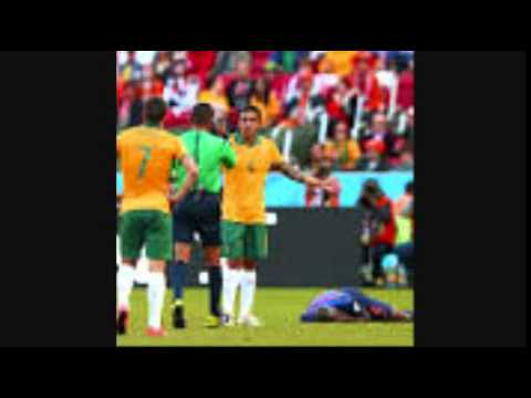 Australia 2 Netherlands 3 Bruno Martins injured World cup 2014 REVIEW]
