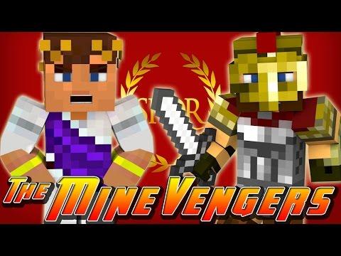 Minecraft MineVengers - TIME TRAVEL - FIGHTING CRAZY GLADIATORS