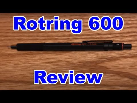 Rotring 600 Review - Mechanical Pencil Review