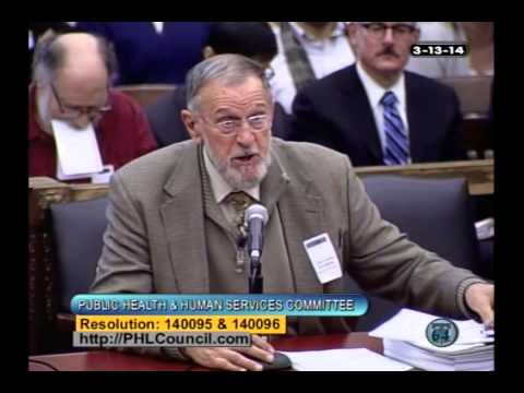 March 13, 2014: Philadelphia City Council Hearing on E-Cigarettes