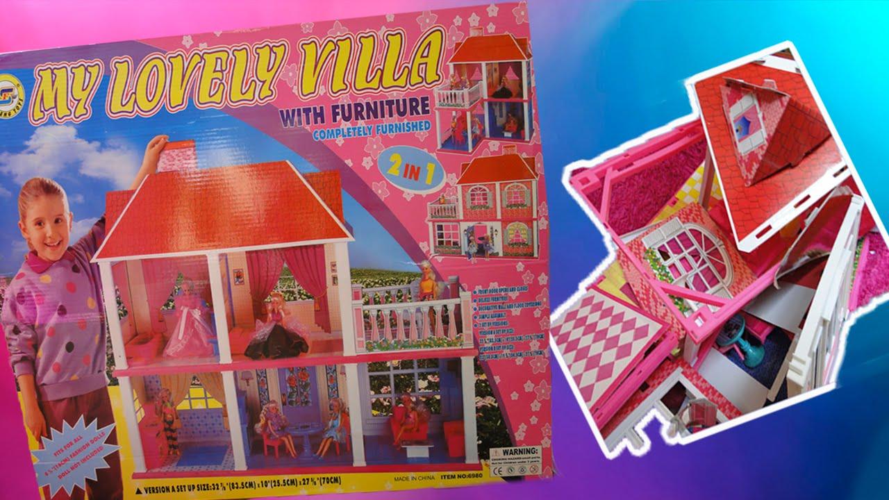 Обзор на домик для кукол. Дом-развалюха My lovely villa - YouTube