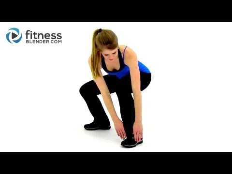 Fitness Blender's 1000 Calorie Workout at Home-HIIT Cardio. Total Body Strength Training + Stretch