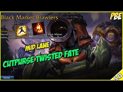 ✔ NEW GAME MODE! - Black Market Brawlers as Cutpurse Twisted Fate