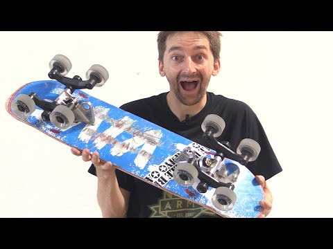 8 WHEEL SKATEBOARD HACKS | STUPID SKATE EP 98