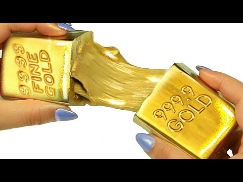 DIY LIQUID GOLD!  How To Make Clay Slime Gold!