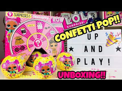 UNBOXING LOL SURPRISE CONFETTI POP SERIES 3 | BIG SISTERS | OPENING L.O.L SURPRISE TOTS DOLLS!!