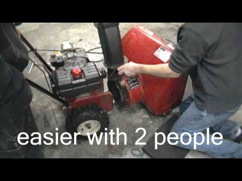 How to change or replace your belts on your two stage mtd snowblower