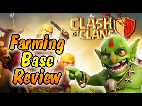 Clash of Clans - New Farming Base Review TH 8 & Daily Attacking