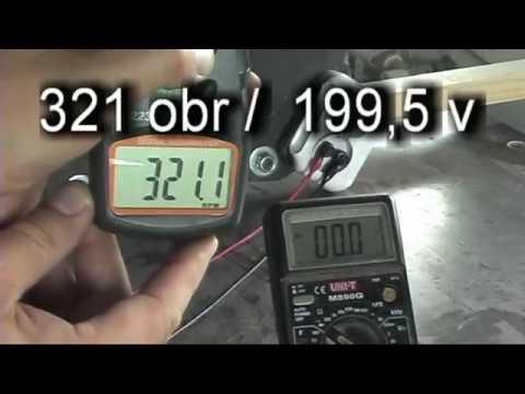 WIND GENERATOR  TEST 325 rpm /200 V - AC # TEST PRĄDNICY  cz.2  PP