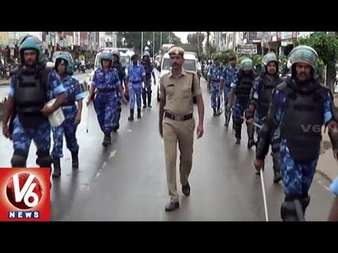 Rapid Action Force Conducts Flag March In Siddipet Ahead Of Elections | V6 News