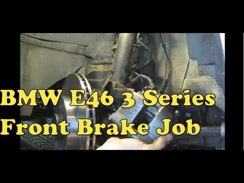 BMW e46, e36 замена передних тормозных дисков, колодок, суппорта своими руками, видео!
