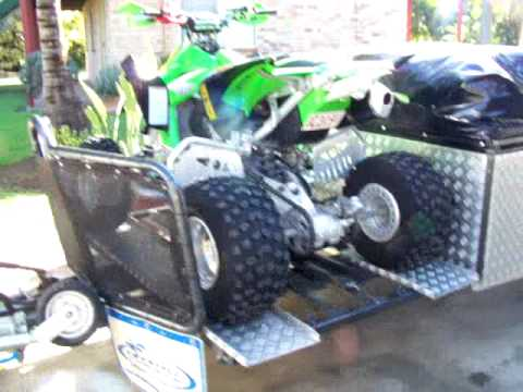 camper trailer/toy hauler part 2(with Quad Bike rack).