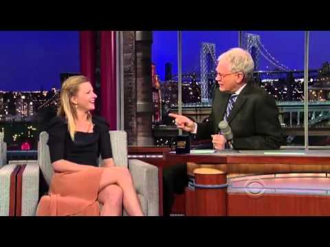 Heather Morris on David Letterman - January 9th