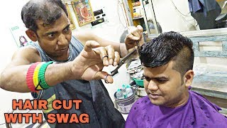 First time on youtube | Hair cutting & styling by asim barber | Indian ASMR