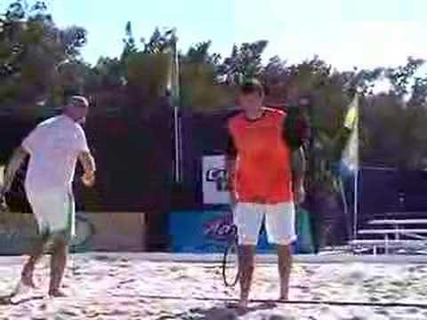 Radek Stepanek and Murphy Jensen Playing Beach Tennis Video