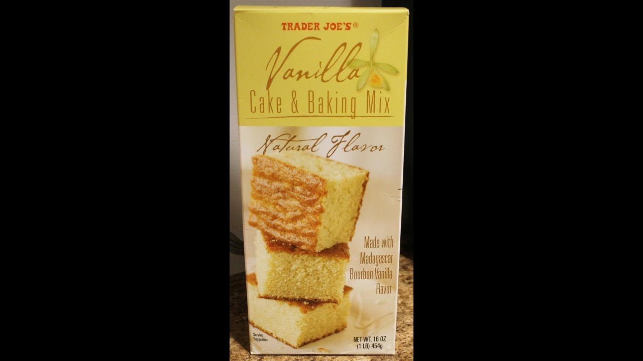 Trader Joe S Vanilla Cake Amp Baking Mix Prep Amp Review Youtube