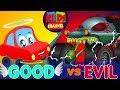 Little Red Car Vs Haunted House Monster Truck Good Vs Evil Original Song For Kids mp3
