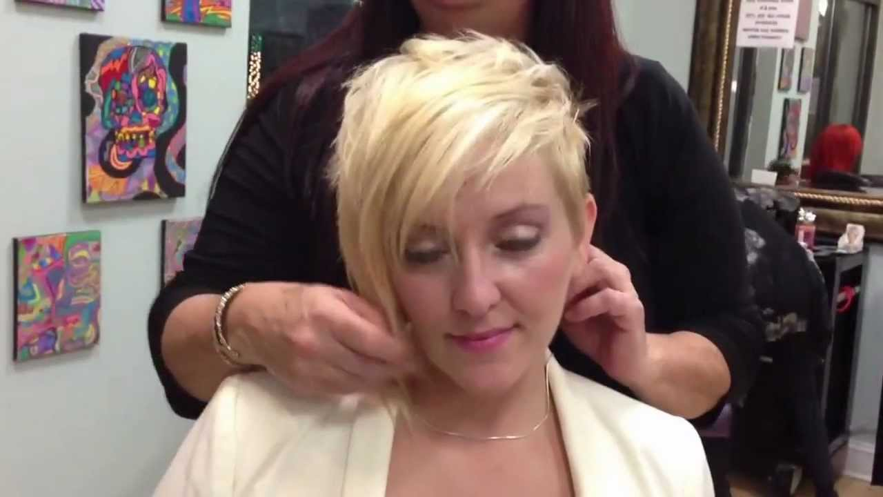 Blonde Asymmetric Haircut YouTube