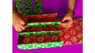 how to make jewellery box with cardboard easy