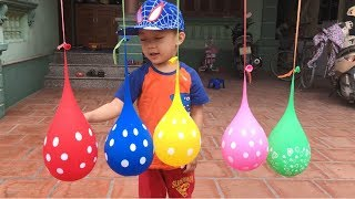 Learn Colors with Balloons   The Surprise for Kids