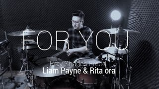 """Download Lagu [4K]ROP - """"Liam Payne & Rita ora - For You(Fifty Shades Freed)"""" Drum isolate Gratis STAFABAND"""