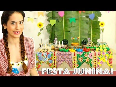 DICAS para DECORAR MESA de FESTA JUNINA