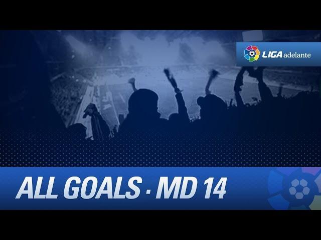 Todos los goles de la jornada 14 de Liga Adelante - HD