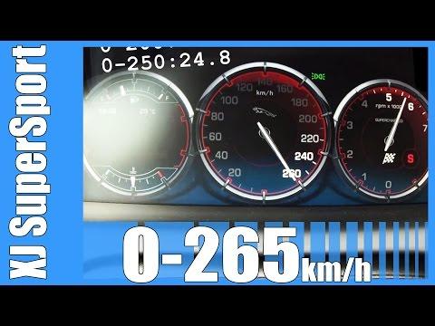 Jaguar XJ SuperSport 5.0 V8 Supercharged 0-265 km/h SICK! Acceleration & Top Speed Run