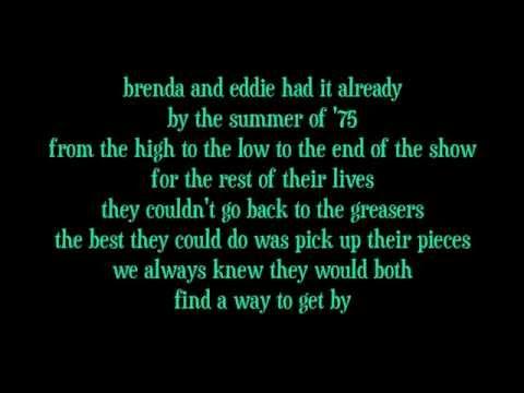 Billy Joel Italian Restaurant Lyrics