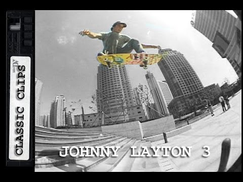 Johnny Layton Skateboarding Classic Clips #213 Part 3