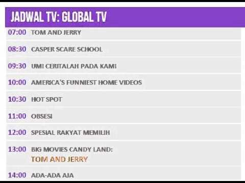 Jadwal TV: GLOBAL TV - 9 Juli 2014