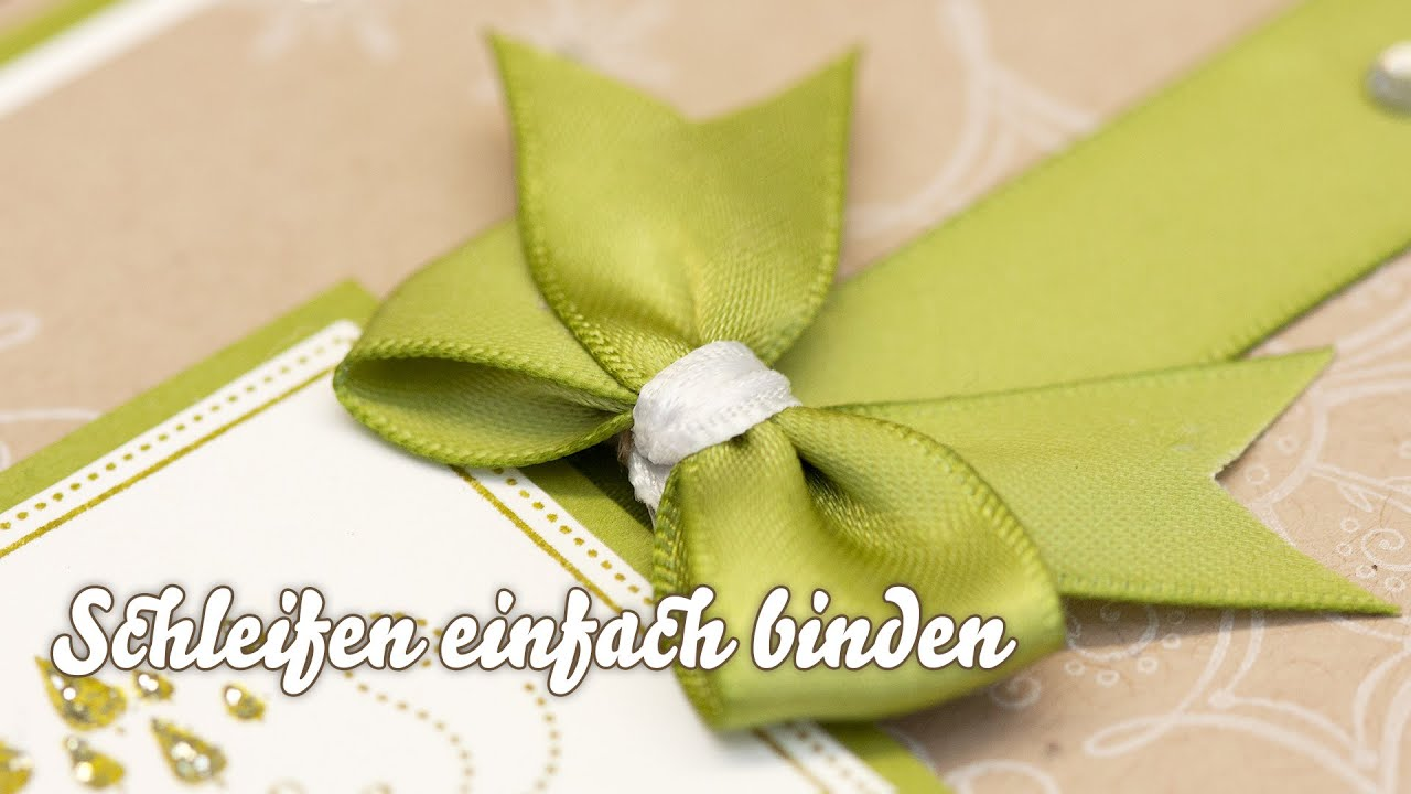 Geschenkband binden