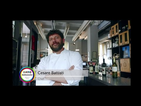 Expo 2015 Chef Ambassador Cesare Battisti eng