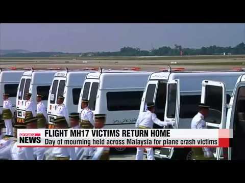 Bodies of Malaysian Flight MH17 crash return home   말레이 피격 여객기 탑승자 유해 송환